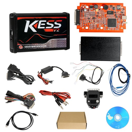Kess V2 V5.017 Online Version V2.70 for 140 Protocol and EU Version V2.23 KTAG 7.020 Firmware Red PCB