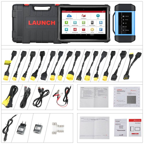 LAUNCH X431 V+ and HD3 HD III Module Heavy Duty Truck Diagnostic Tool for 12V 24V Trucks 1 Year Free Update