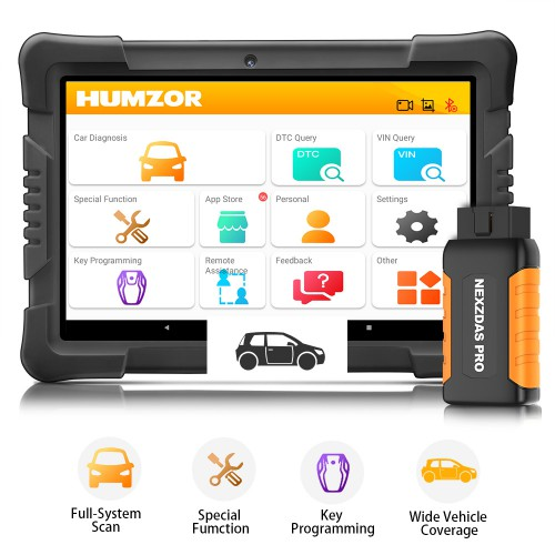 (EU US Ship No Tax) Humzor NexzDAS Pro Bluetooth Full System Auto Diagnostic Tool with 9 Special Functions