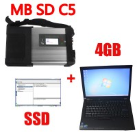 V2020.06 MB SD Connect C5 Star Diagnosis with 256GB SSD Software Plus Lenovo T410 4GB Second Hand Laptop With DTS Monaco & Vediamo