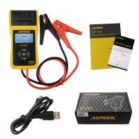 Newest Arrival AUTOOL BT660 Battery Analyzer BT-660 Car Battery Tester Supports Printing Data Out