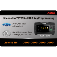 Autek iKey820 Software License for Ford 2018+ and Toyota G H Chip