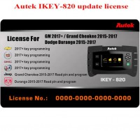 Autek iKey820 Software License for GM 2017+ Jeep Dodge 2014-2017