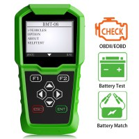 (UK Ship No Tax) OBDSTAR BMT-08 12V/24V Automotive Battery Tester and Battery Matching Tool OBD2 Battery Configuration 100-2000 CCA 220AH