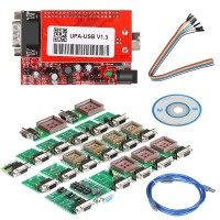 (UK, US Ship No Tax) V13.10.11 UUSP UPA-USB Serial Programmer Full Package Free Shipping